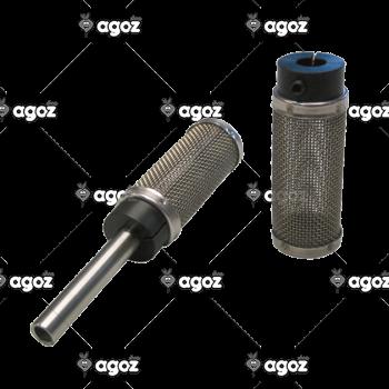 filtro aspirazione inox per tubo