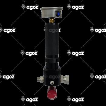 TR23810 filtro di linea + manometro + rubinetto regolatore mini